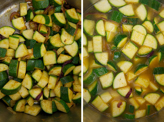 Add the squash; add the stock