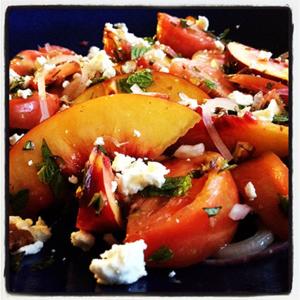 Nectarine & Tomato Salad