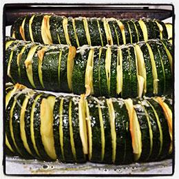 Zucchini Accordions