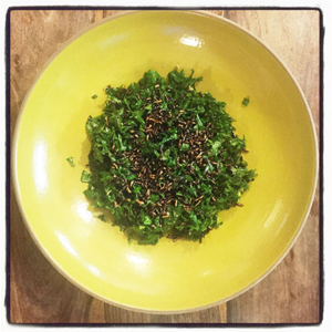 Kale Salad With Popped Wild Rice