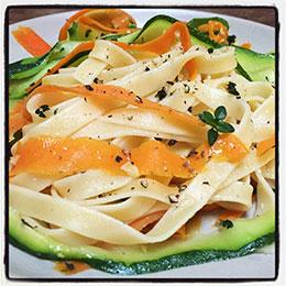 Carrot & Zucchini Ribbon Pasta