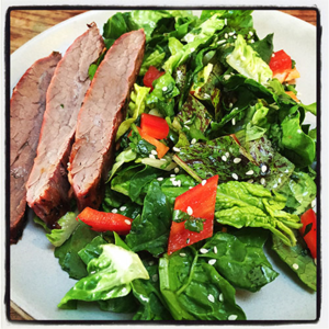 Teriyaki Flank Steak Salad