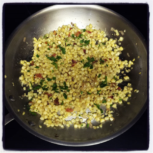 Corn Bacon Hash