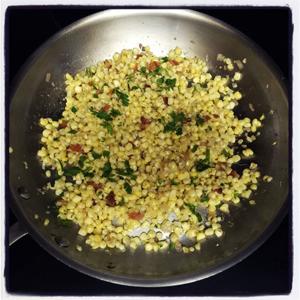 Corn Bacon Hash
