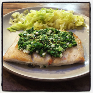 Pan Fried Sole with Chimichurri Sauce