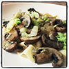 Pasta with Mushrooms and Cabbage